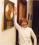 Pearl with Janis' gold record